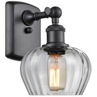 Innovations Lighting 516-1W-BK-G92-LED Fenton LED 7 inch Matte Black Sconce Wall Light Ballston