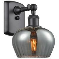 Innovations Lighting 516-1W-BK-G93-LED Fenton LED 7 inch Matte Black Sconce Wall Light Ballston