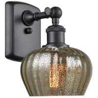 Innovations Lighting 516-1W-BK-G96 Fenton 1 Light 7 inch Matte Black Sconce Wall Light Ballston