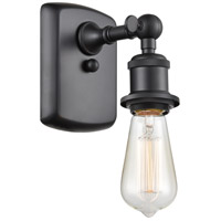 Innovations Lighting 516-1W-BK Bare Bulb 1 Light 5 inch Matte Black Sconce Wall Light Ballston