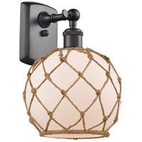 Innovations Lighting 516-1W-OB-G121-8RB Farmhouse Rope 1 Light 8 inch Oil Rubbed Bronze Sconce Wall Light Ballston
