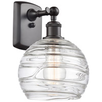 Innovations Lighting 516-1W-OB-G1213-8-LED Deco Swirl LED 8 inch Oil Rubbed Bronze Sconce Wall Light Ballston