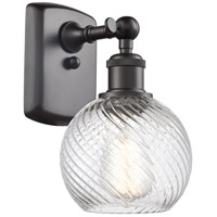 Innovations Lighting 516-1W-OB-G1214-6 Small Twisted Swirl 1 Light 6 inch Oil Rubbed Bronze Sconce Wall Light Ballston