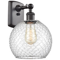 Innovations Lighting 516-1W-OB-G122-8CSN-LED Farmhouse Chicken Wire LED 8 inch Oil Rubbed Bronze Sconce Wall Light Ballston