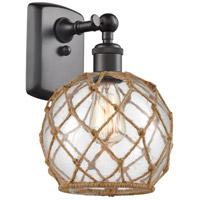 Innovations Lighting 516-1W-OB-G122-8RB Farmhouse Rope 1 Light 8 inch Oil Rubbed Bronze Sconce Wall Light Ballston