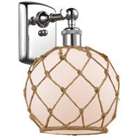 Innovations Lighting 516-1W-PC-G121-8RB-LED Farmhouse Rope LED 8 inch Polished Chrome Sconce Wall Light Ballston