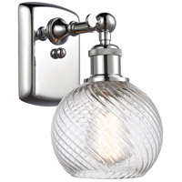 Innovations Lighting 516-1W-PC-G1214-6 Small Twisted Swirl 1 Light 6 inch Polished Chrome Sconce Wall Light Ballston