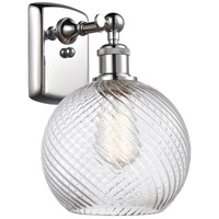 Innovations Lighting 516-1W-PC-G1214-8-LED Twisted Swirl LED 8 inch Polished Chrome Sconce Wall Light Ballston