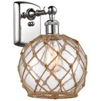 Innovations Lighting 516-1W-PC-G122-8RB Farmhouse Rope 1 Light 8 inch Polished Chrome Sconce Wall Light Ballston