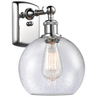 Innovations Lighting 516-1W-PC-G124 Athens 1 Light 8 inch Polished Chrome Sconce Wall Light Ballston