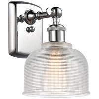 Innovations Lighting 516-1W-PC-G412-LED Dayton LED 6 inch Polished Chrome Sconce Wall Light Ballston