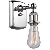 Innovations Lighting 516-1W-PC Bare Bulb 1 Light 5 inch Polished Chrome Sconce Wall Light Ballston