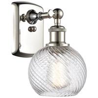 Innovations Lighting 516-1W-PN-G1214-6 Small Twisted Swirl 1 Light 6 inch Polished Nickel Sconce Wall Light Ballston