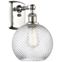 Innovations Lighting 516-1W-PN-G1214-8-LED Twisted Swirl LED 8 inch Polished Nickel Sconce Wall Light Ballston