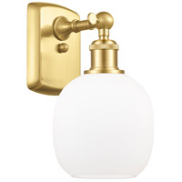 Innovations Lighting 516-1W-SG-G101-LED Belfast LED 6 inch Satin Gold Sconce Wall Light Ballston