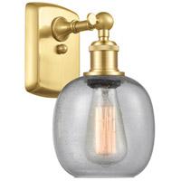 Innovations Lighting 516-1W-SG-G104-LED Belfast LED 6 inch Satin Gold Sconce Wall Light Ballston