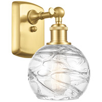 Innovations Lighting 516-1W-SG-G1213-6 Small Deco Swirl 1 Light 6 inch Satin Gold Sconce Wall Light