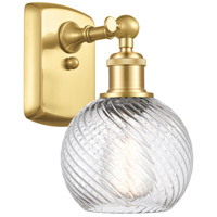 Innovations Lighting 516-1W-SG-G1214-6 Small Twisted Swirl 1 Light 6 inch Satin Gold Sconce Wall Light
