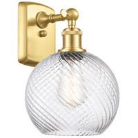 Innovations Lighting 516-1W-SG-G1214-8 Twisted Swirl 1 Light 8 inch Satin Gold Sconce Wall Light
