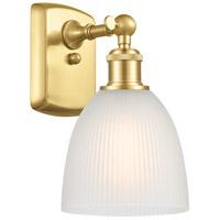 Innovations Lighting 516-1W-SG-G381 Castile 1 Light 6 inch Satin Gold Sconce Wall Light Ballston