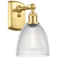 Innovations Lighting 516-1W-SG-G382-LED Castile LED 6 inch Satin Gold Sconce Wall Light