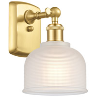 Innovations Lighting 516-1W-SG-G411 Dayton 1 Light 6 inch Satin Gold Sconce Wall Light