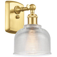 Innovations Lighting 516-1W-SG-G412 Dayton 1 Light 6 inch Satin Gold Sconce Wall Light