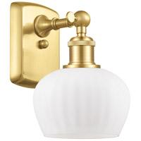 Innovations Lighting 516-1W-SG-G91 Fenton 1 Light 7 inch Satin Gold Sconce Wall Light