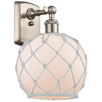 Innovations Lighting 516-1W-SN-G121-8RW Farmhouse Rope 1 Light 8 inch Brushed Satin Nickel Sconce Wall Light Ballston
