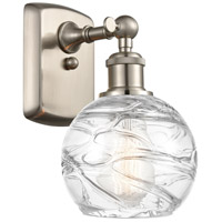 Innovations Lighting 516-1W-SN-G1213-6-LED Small Deco Swirl LED 6 inch Brushed Satin Nickel Sconce Wall Light Ballston