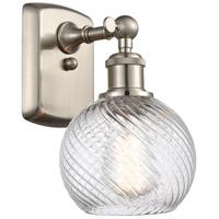 Innovations Lighting 516-1W-SN-G1214-6 Small Twisted Swirl 1 Light 6 inch Satin Nickel Sconce Wall Light Ballston
