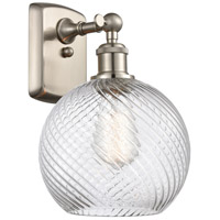 Innovations Lighting 516-1W-SN-G1214-8 Twisted Swirl 1 Light 8 inch Brushed Satin Nickel Sconce Wall Light Ballston