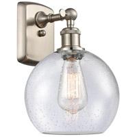 Innovations Lighting 516-1W-SN-G124 Athens 1 Light 8 inch Satin Nickel Sconce Wall Light Ballston