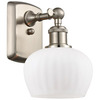 Innovations Lighting 516-1W-SN-G91 Fenton 1 Light 7 inch Brushed Satin Nickel Sconce Wall Light Ballston