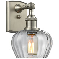Innovations Lighting 516-1W-SN-G92-LED Fenton LED 7 inch Brushed Satin Nickel Sconce Wall Light Ballston