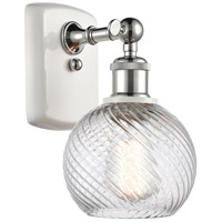 Innovations Lighting 516-1W-WPC-G1214-6 Small Twisted Swirl 1 Light 6 inch White And Polished Chrome Sconce Wall Light Ballston