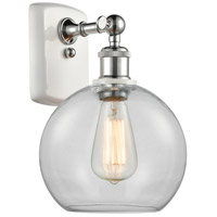 Innovations Lighting 516-1W-WPC-G122-LED Athens LED 8 inch White And Polished Chrome Sconce Wall Light Ballston
