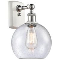 Innovations Lighting 516-1W-WPC-G124-LED Athens LED 8 inch White And Polished Chrome Sconce Wall Light Ballston