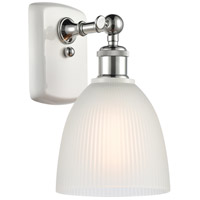 Innovations Lighting 516-1W-WPC-G381-LED Castile LED 6 inch White And Polished Chrome Sconce Wall Light Ballston