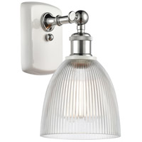 Innovations Lighting 516-1W-WPC-G382-LED Castile LED 6 inch White And Polished Chrome Sconce Wall Light Ballston