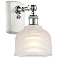 Innovations Lighting 516-1W-WPC-G411-LED Dayton LED 6 inch White And Polished Chrome Sconce Wall Light Ballston