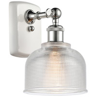 Innovations Lighting 516-1W-WPC-G412 Dayton 1 Light 6 inch White And Polished Chrome Sconce Wall Light Ballston