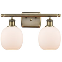 Innovations Lighting 516-2W-AB-G101 Belfast 2 Light 16 inch Antique Brass Bath Vanity Light Wall Light Ballston