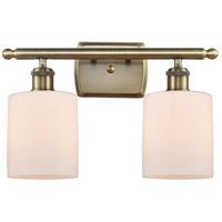 Innovations Lighting 516-2W-AB-G111 Cobbleskill 2 Light 16 inch Antique Brass Bath Vanity Light Wall Light, Ballston