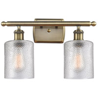 Innovations Lighting 516-2W-AB-G112-LED Cobbleskill LED 16 inch Antique Brass Bath Vanity Light Wall Light Ballston