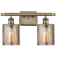Innovations Lighting 516-2W-AB-G116 Cobbleskill 2 Light 16 inch Antique Brass Bath Vanity Light Wall Light Ballston