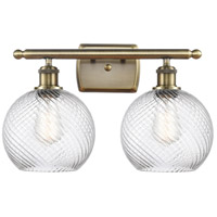 Innovations Lighting 516-2W-AB-G1214-8 Twisted Swirl 2 Light 16 inch Antique Brass Bath Vanity Light Wall Light Ballston