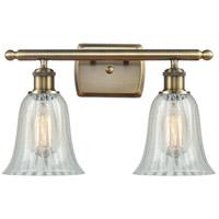 Innovations Lighting 516-2W-AB-G2811 Hanover 2 Light 16 inch Antique Brass Bath Vanity Light Wall Light, Ballston