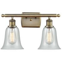 Innovations Lighting 516-2W-AB-G2812 Hanover 2 Light 16 inch Antique Brass Bath Vanity Light Wall Light, Ballston