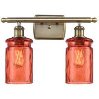 Innovations Lighting 516-2W-AB-G352-COR Candor 2 Light 16 inch Antique Brass Bath Vanity Light Wall Light, Ballston